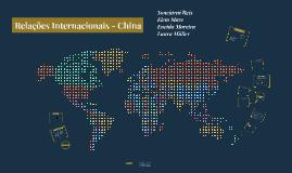 Relações Internacionais: China