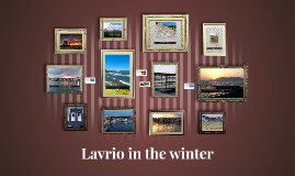 Lavrio in the winter