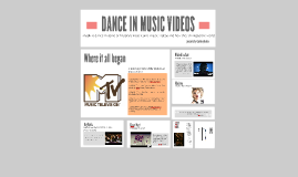 DANCE IN MUSIC VIDEOS