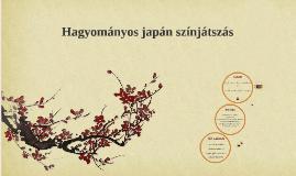 Hagyományos japán színjátszás