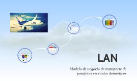 LAN: Modelo de negocio de transporte de pasajeros