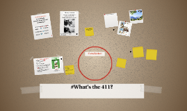 #What's the 411?