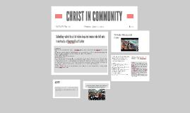 CHRIST IN COMMUNITY