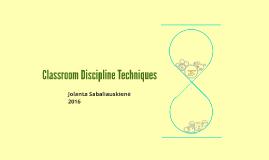 Classroom Discipline Techniques