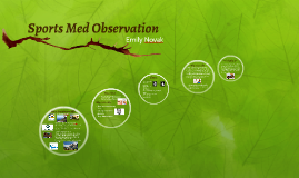 Sports Med Observation