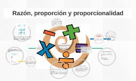 Razón, proporción y proporcionalidad