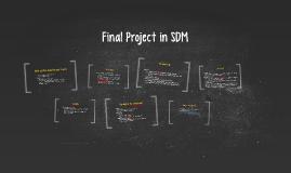 Presentation - Final Project in SDM - Monday, Week 17