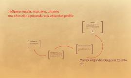 Indigenas rurales, migrantes, urbanos;