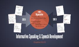 Informative Speaking & Speech Development