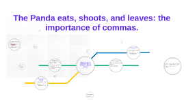 Copy of The Panda eats, shoots, and leaves: the importance of commas