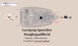Leergang Specialist Hoogbegaafdheid