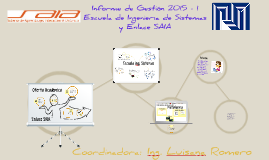 Gestión Escuela de Sistemas  y Enlace SAIA 2015-1