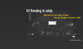 11.8 Bonding in solids