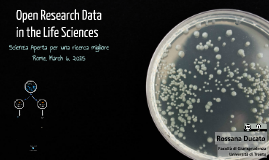 Open Research Data in the Life Sciences