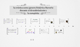la crónica como genero historico literario durante el descub