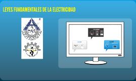 Copy of LEYES FUNDAMENTALES DE LA ELECTRICIDAD