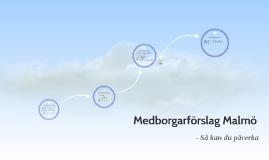 Medborgarförslag Malmö