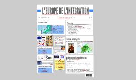 L'EUROPE DE L'INTEGRATION