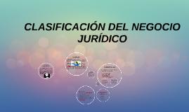Copy of CLASIFICACIÓN DEL NEGOCIO JURÍDICO