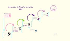 Obtención de Proteína Unicelular (PUC)