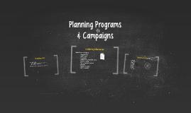 Planning Programs