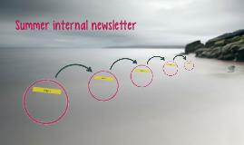 Summer internal newsletter