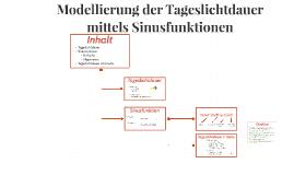 Modellierung der Tageslichtdauer mittels der Sinusfunktion