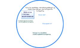 Policy for ansettelse i rekrutteringsstillinger og midlertid