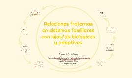 Relaciones fraternas en sistemas familiares con hijos/as bio