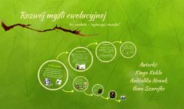 Rozwój myśli ewolucyjnej