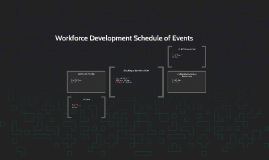 Workforce Development Schedule of Events