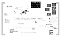 Webbpublicering, upphovsrätt och källkritik