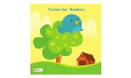 Twitter for Realtors
