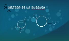 METODO DE LA BURBUJA