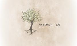Fry Words 151 - 200