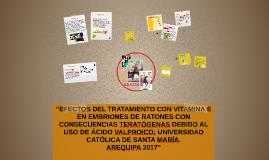 """""""EFECTOS DEL TRATAMIENTO CON VITAMINA E EN EMBRIONES DE RATO"""