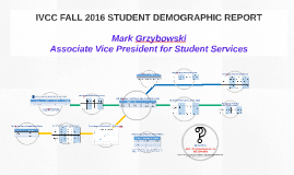 IVCC FALL 2016 STUDENT DEMOGRAPHIC REPORT