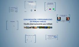 2. COMUNICACIÓN Y PERDURABILIDAD EN PAREJAS VIABLES.
