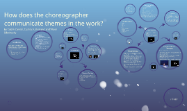 How does the choreographer communicate themes in the work?
