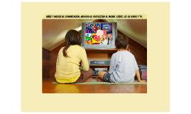 Niñez y medios de comunicación: Horario de Protección al Menor