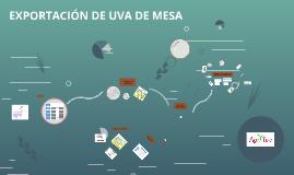 EXPORTACIÓN DE UVA DE MESA
