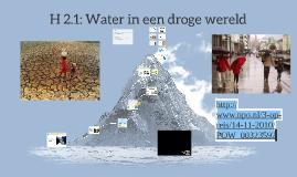 VWO: 2.1 Water in een droge wereld