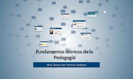 Fundamentos teóricos de la Pedagogía