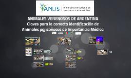 ANIMALES VENENOSOS DE IMPORTANCIA MEDICA EN ARGENTINA