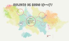 SULFATO DE SODIO i(>-<)'/
