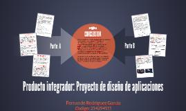 Producto integrador: Proyecto de diseño de aplicaciones