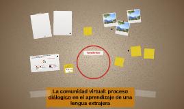 La comunidad virtual en el aprendizaje de una lengua extranj