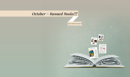 October = Banned Books!!!