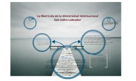 La Matricula en la Universidad Internacional   San Isidro Labrador