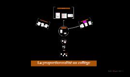 La proportionnalité au collège